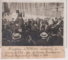 RÉCEPTION DE LEBLANC VAINQUEUR DU CIRCUIT DE L'EST PAR CARRON PRÉSIDENT 18*13CM Maurice-Louis BRANGER PARÍS (1874-1950) - Aviación