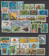 Burkina Faso Lot De 38 Timbres Oblit. Used 2000-2005 - Burkina Faso (1984-...)