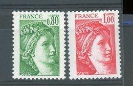 France  :  Yv  1970c + 1972c **  Gomme Tropicale Sans Bande Pho - 1977-81 Sabine De Gandon