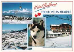 74 Thollon Les Memises, Hôtel Restaurant Bellevue, Multivues - France