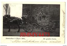 BRIEFKAART - De Gouden Koets - Amsterdam 6 Maart 1901 - Royal Families