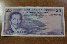 Iceland 25 Krone 1961 - Islanda