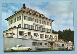 """A113  CP LE MARKSTEIN (Haut-Rhin) LAUTENBACH  -   HOTEL *  RESTAURANT  """"Belle-Vue""""  Voiture CITROËN DS...     +++++++ - France"""