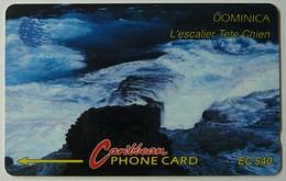 DOMINICA - GPT - 6CDMC - $40 - DOM-6C - Escalier Tete Chien - Used - Dominica