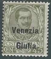 1918-19 VENEZIA GIULIA FLOREALE 45 CENT MH * - RA30-9 - 8. WW I Occupation