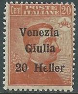 1919 VENEZIA GIULIA EFFIGIE 20 CENT MNH ** - RA30-8 - 8. WW I Occupation