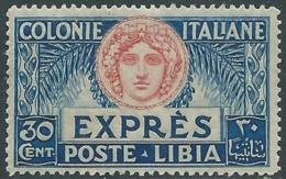 1921 LIBIA ESPRESSO ITALIA TURRITA 30 CENT MNH ** - RA29-9 - Libyen