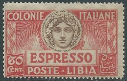 1921 LIBIA ESPRESSO ITALIA TURRITA 50 CENT MNH ** - RA29-9 - Libyen