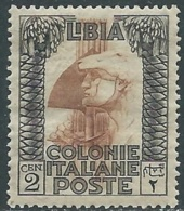 1921 LIBIA PITTORICA 2 CENT MNH ** - RA31-3 - Libyen