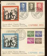 FDC Philantropes  N°  979/985  De 1955   Cote 100,-E    Editions RODAN - 1951-60