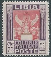 1931 LIBIA PITTORICA 75 CENT MNH ** - RA31-2 - Libyen