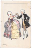 Chiostri Carlo Illsutration Couple  Ballerini Fratini 1931 - Chiostri, Carlo