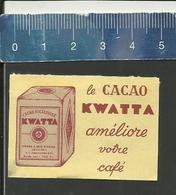 KWATTA CACAO Luciferetiket étiquette D'allumettes Matchbox Label Streichholzetiket - Matchbox Labels