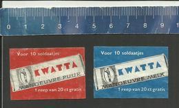 KWATTA CHOCOLADE CHOCOLATS CHOCOLATE SCHOKOLADE CHOCLAT - Matchbox Labels