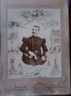 Photographie Ancienne De Cabinet - Militaire Du 7 ème Régiment Du Génie - Photo Miesienski, AVIGNON  BE - War, Military