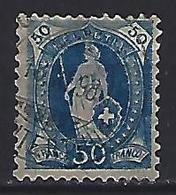 Switzerland 1882 Helvita  Mi.62 - 1882-1906 Coat Of Arms, Standing Helvetia & UPU