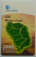 DOMINICA - Chip - $20 - DOM-7C - New Millennium - VF Used - Dominica