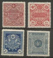 Turkey - 1914 Arms Postage Dues  MH *    Mi P43-6  Sc J63-6 - 1858-1921 Osmanisches Reich
