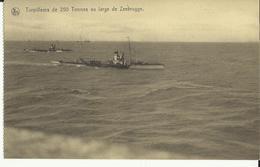 Zeebrugge -- Torpilleurs  De  250  Tonnes  Au  Large  De  Zeebrugge.     (2 Scans) - Guerre
