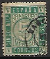 ESPAGNE   -    1867 .   Y&T N° 93 Oblitéré - 1850-68 Kingdom: Isabella II