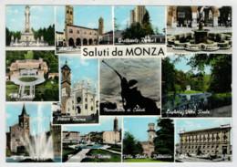 SALUTI  DA  MONZA   VEDUTE            (VIAGGIATA) - Monza