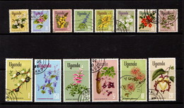 UGANDA     1969    Various  Designs    Part Set  Of  14    USED - Uganda (1962-...)