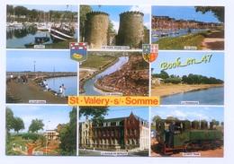 {80732} 80 Somme Saint Valéry Sur Somme , Multivues ; Port Et Club House , Petit Train , Vue Générale , Golf Miniature - Saint Valery Sur Somme