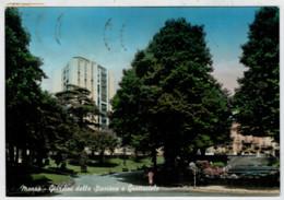 MONZA     GIARDINI  DELLA    STAZIONE   E  GRATTACIELO            (VIAGGIATA) - Monza
