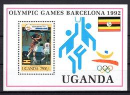 Uganda Oeganda 1992 R MNH Block Sport Olympic Games Spiele Barcelona Basketball Basketbol Pallacanestro Baloncesto - Summer 1992: Barcelona