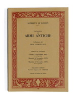 Catalogo Asta Sotheby's - Armi Antiche - Firenze Novembre 1973 - Libros, Revistas, Cómics