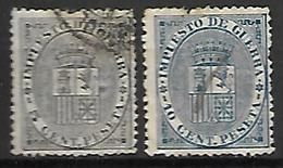 ESPAGNE   -   Impot De Guerre   -  1873 .   Y&T N° 1 / 2 Oblitérés. - Impuestos De Guerra