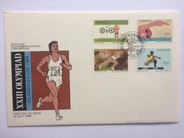 Zimbabwe Los Angeles Olympics 1984 FDC - Zimbabwe (1980-...)