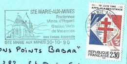 France (1990) Ste Marie-aux-Mines (68)  Anciennes Mines D'argent, église, Tissus écossais / Silver Mines, Church, Fabric - Geología