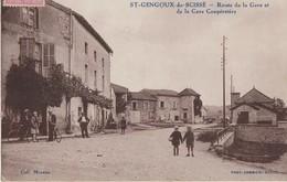Carte A Saint-Gengoux De Scissé  71  La Route De La Gare Tres Animée Café -et La Cave Cooperative - France