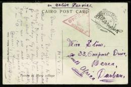 Ref 1320 - 1918 WWI Egypt Military Censored Postcard - GB BAPO Z - Base Army Post Office Z (2) - Egypt