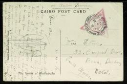 Ref 1320 - 1918 WWI Egypt Military Censored Postcard - GB BAPO Z - Base Army Post Office Z - Egypt