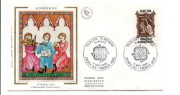 ANDORRE FDC 1985 EUROPA - FDC