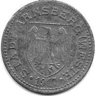 *notgeld Arnsberg 50 Pfennig 1917  Zn   19.3a - Other