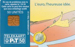CARTE PUCE * P&T LUXEMBOURG * 50U * TS26 * OR3 * 2001 * L'EURO, L'HEUREUSE IDEE - Luxemburg