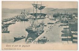 CPA - LIBAN - BEYROUTH - Quais Et Port De Beyrouth - Libano