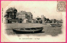 Lion Sur Mer - Plage - Barque - Cabanon Bois - Animée - Edit. J. BRECHET - France