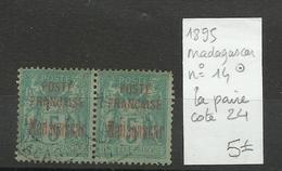 Madagascar N° 14 Oblitéré En Paire Cote YT 24€ - Madagascar (1889-1960)