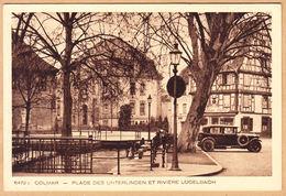 CPA Colmar, Place Des Unterlinden Et Rivière Logelbach, Ungel. - Colmar