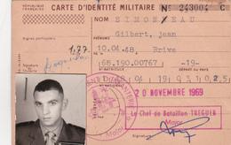 Carte D'identité Militaire 1969 - Vieux Papiers