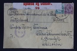South African Occupation Of Southwest Africa Forerunner Windhoek -> Bern 27-10-1916 Altered German Cancel +censored - Südafrika (...-1961)