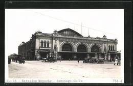 AK Santiago, Estacion Mapocho, Bahnhof, Vorplatz Mit Automobilen Und Kutschen - Chile