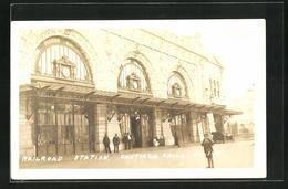 AK Santiago, Railroad Station, Bahnhof, Eingangsfassade - Chili