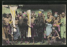 CPA Sierra Leone, Bondoo Devils - Cartes Postales