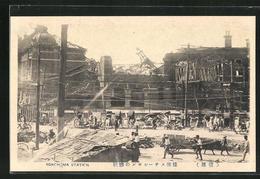 AK Yokohama, Eingestürzter Bahnhof Nach Erdbeben - Yokohama