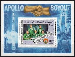 Mauretanien MiNr. Bl. 13 ** Raumfahrt Apollo-Sojus - Mauretanien (1960-...)